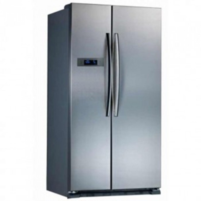 Midea 510Litres Side by Side Look Refrigerator HC 689WEN   Stainless Steel Hand Handle R600A Silver