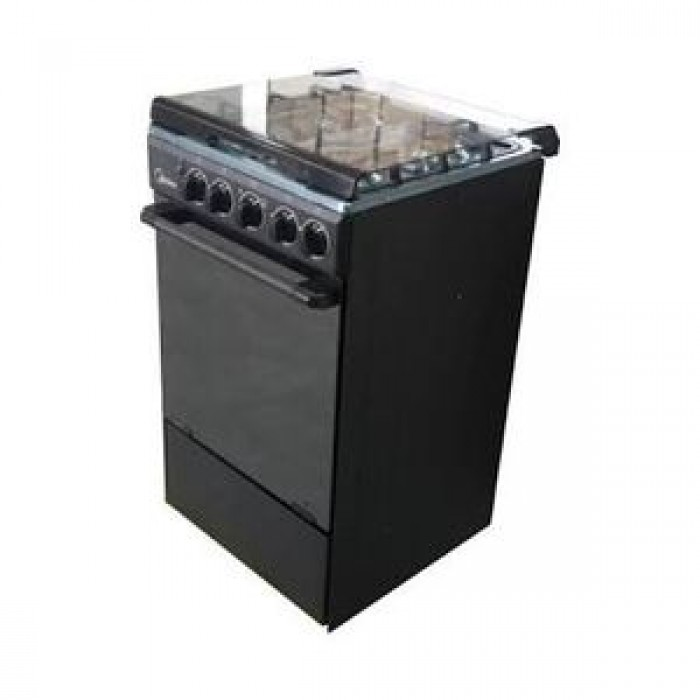 Midea 3 Gas + 1 Electric Gas Cooker 50*55 Grill Oven 20BMG4Q007-S   Black Colour