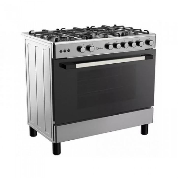 Midea 5 Burner 90X60 Gas Cooker Inox 36LMG5G030