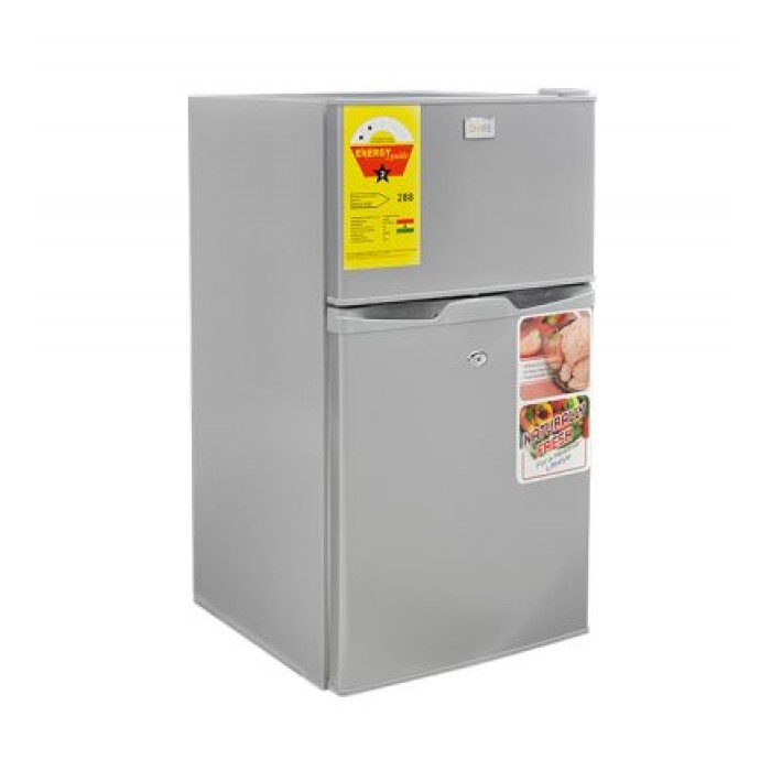 BRUHM 100L Double Door Refrigerator Silver BRD-105