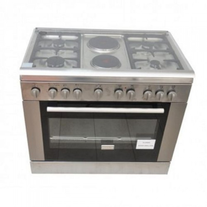 BRUHM 90*60 4G + 2E Standing Gas Cooker BGC-9642GS With Fan Silver